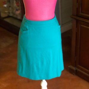 Vibrant Ann Taylor Jewel Green skirt size 12
